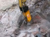D&A Hydraulik Hammer beim Stein brechen